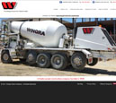 Desktop View of Wingra Stone Company's Home Page in thumbnail