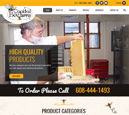 Desktop View of Capital Bee Supply's Home Page in thumbnail