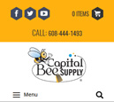 Mobile View of Capital Bee Supply's Home Page in thumbnail