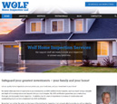 Desktop View of Wolf Home Inspection's Home Page in thumbnail