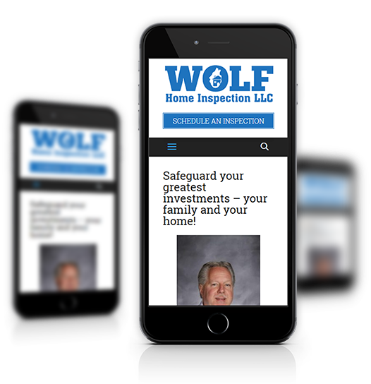 Mobile View of Wolf Home Inspection's Home Page