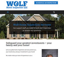 Tablet View of Wolf Home Inspection's Home Page in thumbnail