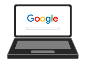 Google on a laptop screen