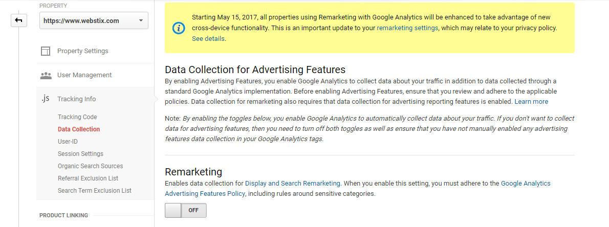 Google Analytics Remarketing Updates 2017
