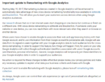 Recent Update to Remarketing with Google Analytics 2017