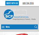 Mobile View of BCP Transportation's Home Page in thumbnail