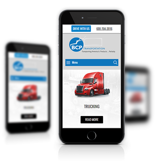 Mobile View of BCP Transportation's Home Page