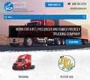 Tablet View of BCP Transportation's Home Page in thumbnail