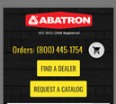 Mobile View of Abatron Inc. Home Page in thumbnail