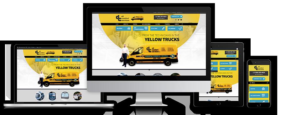 All Comfort Services Home Page Banner in Laptop, Desktop, Tablet & Mobile