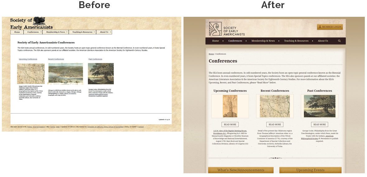 Society of Early Americanists Inside Page Before And After