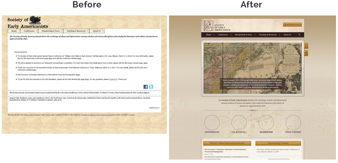 Society of Early Americanists Home Page Before and After