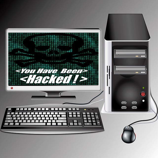 Desktop with a Screen that Show it was Hacked