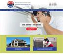 Desktop View of Warren Heating's Home Page in thumbnail