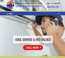 Tablet View of Warren Heating's Home Page in thumbnail