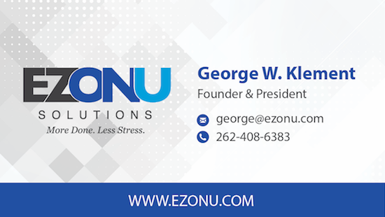 EZONU Business Card Design by Webstix