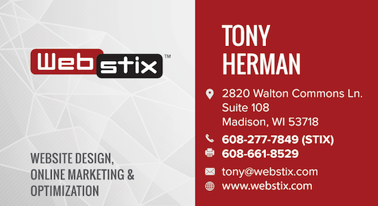 Webstix Business Card Design