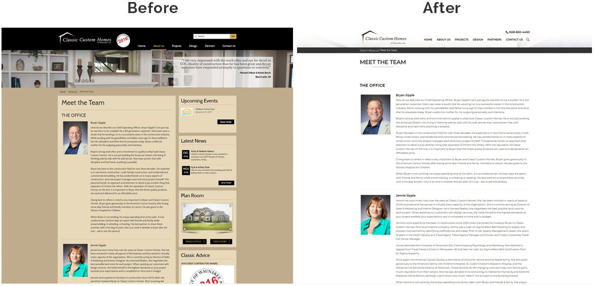 CCH Inside Page Before and After