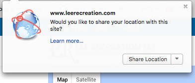 GPS location browser box