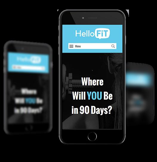 HelloFit Mobile View