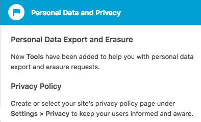 Set your privacy policy note