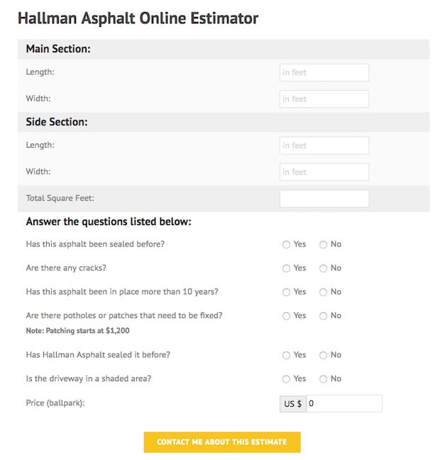 custom calculator for website
