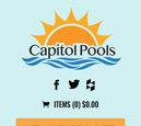Mobile View of Capitol Pools Home Page in thumbnail