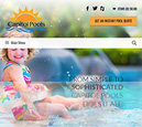 Tablet View of Capitol Pools Home Page in thumbnail