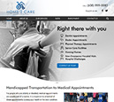 Desktop View of Home2Care Transportation Home Page in thumbnail