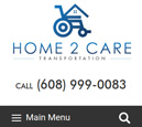 Mobile View of Home2Care Transportation Home Page in thumbnail