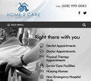 Tablet View of Home2Care Transportation Home Page in thumbnail