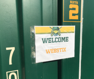 Webstix sign in Mallards suite