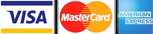 Visa, Mastercard, American Express logos