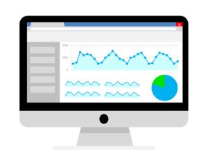 Website analytics on a computer screen