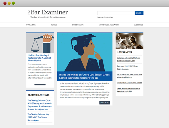 National Conference of Bar Examiners Slider