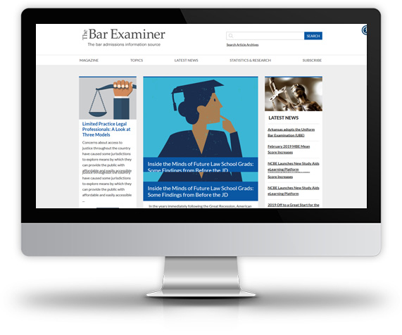 Desktop view of National Conference of Bar Examiners