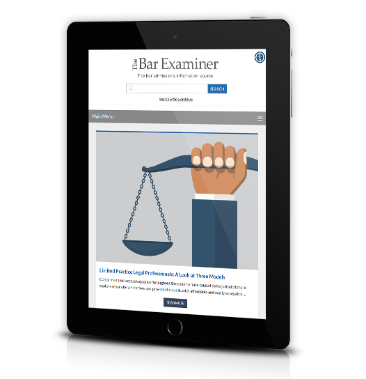 Tab view of National Conference of Bar Examiners