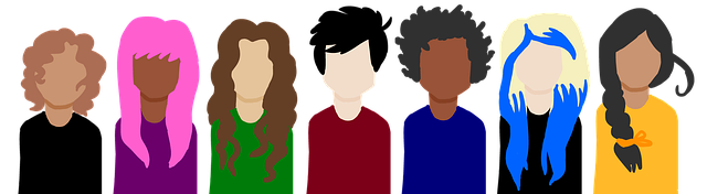 Illustration of different people / customers