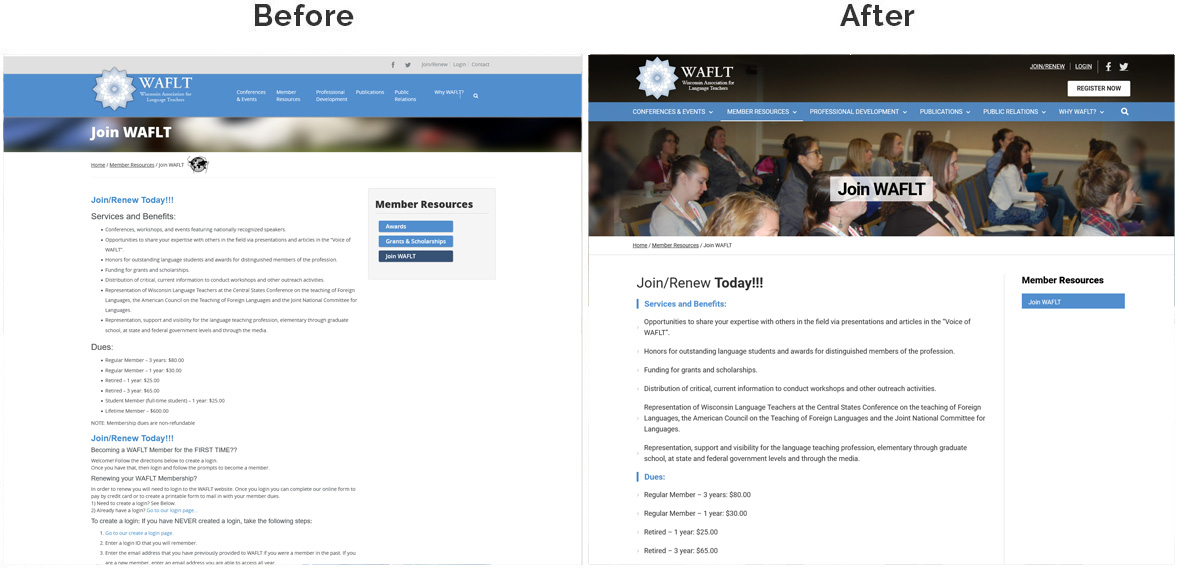 waflt insidepage before after